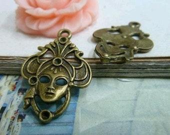 20pcs 21x31mm The Princess  Antique Bronze Retro Pendant Charm For Jewelry Pendant C2086