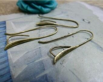 10pcs 14x28mm The Antique Bronze  Ear Hook Charm For Earring Pendant C2158
