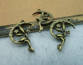 20pcs 15x25mm The Angel  Antique Bronze Retro Pendant  Charm For Jewelry Pendant C2154
