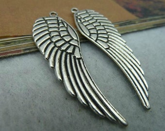 10pcs 16x48mm The Wings Silver Color Retro Pendant Charm For Jewelry /Pendant C2488