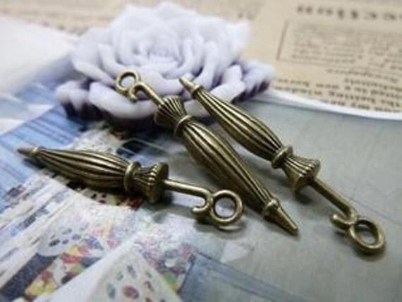 20pcs 6x35mm The Umbrella  Antique Bronze Retro Pendant Charm Pendants For Jewelry Pendant