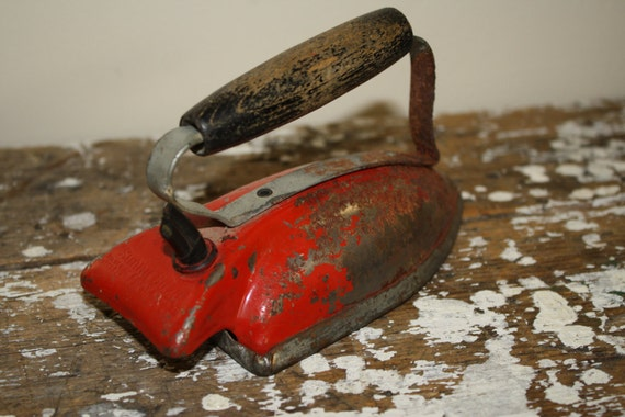Red Rustic Shabby Chic Children's Iron