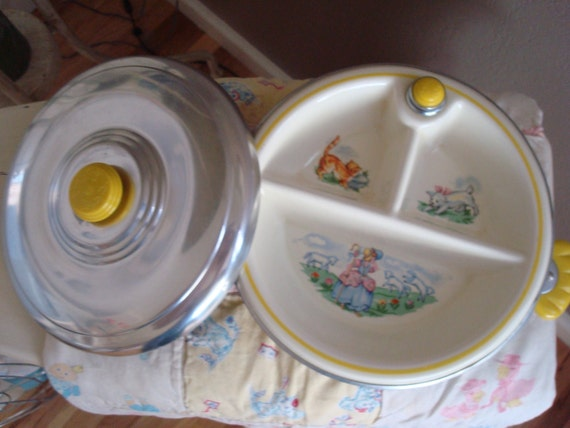 Baby Dish Baby Gift Vintage Baby Bowl