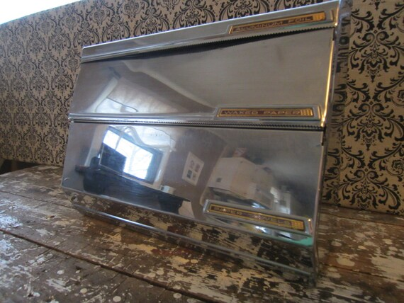 Lincoln Aluminum Foil and Paper Towel Holder Vintage Beauty ware Chrome Kitchen
