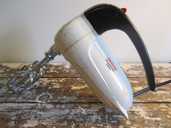 Vintage Hand Mixer Sunbeam Mixmaster Junior Baking Hand Held Mixer