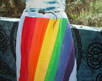 Hippie patchwork  rainbow skirt