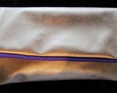 Bronzed & Glimmery Med Fold-Over Clutch