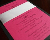 Hot Pink and Black Invitation Set