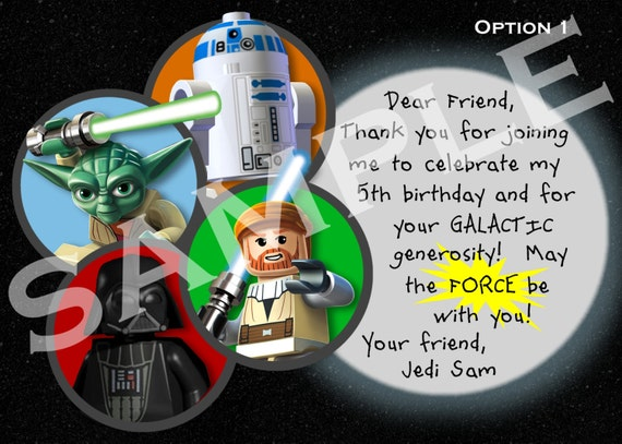 Star Wars Thank You Note 3 Options - Digital File