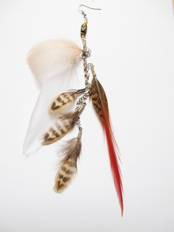 One Single Feather Earring