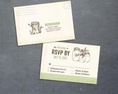Woodland Postcard RSVP (PRINTABLE)