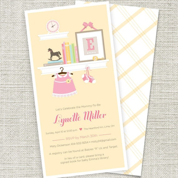 baby shower invitation book themed printable
