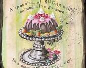 Kid's Room Decor Mary Poppins Sugar Cake Stand Print