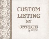 Custom Listing for Kim Mimms - Custom Diaper Raffle Tickets & Registry Cards