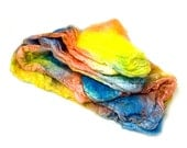 Hand-dyed Silk Mawatas (Hankies) for Spinning or Knitting- 1 ounce or 28.35 grams