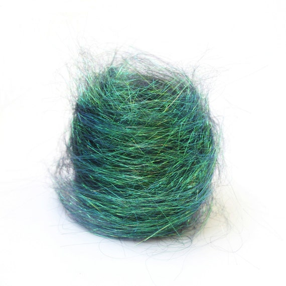 Angelina Sparkle Spinning Fiber in Peacock, 0.5 ounces