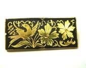 Vintage Brooch Damascene