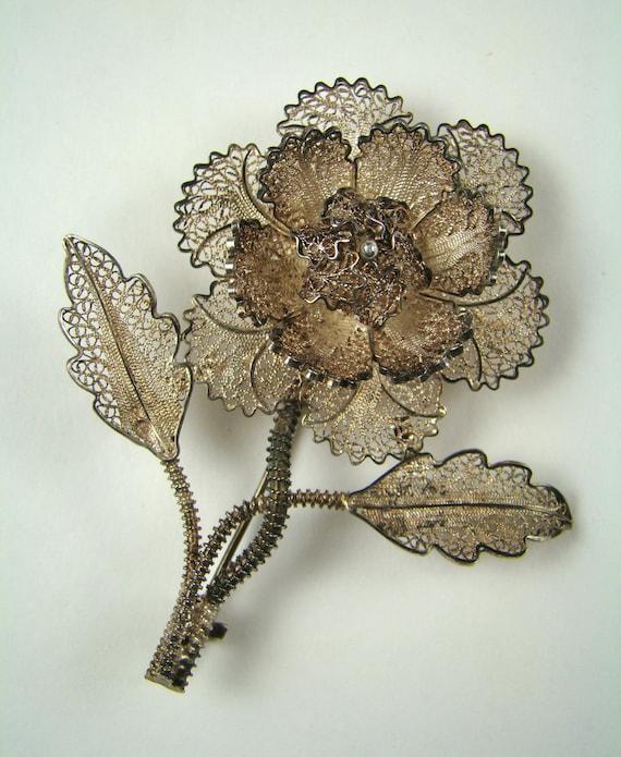 Vintage Filigree Brooch