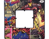 Iron Man Decoupaged Avengers Frame - Vintage Comic Book Art - Tony Stark