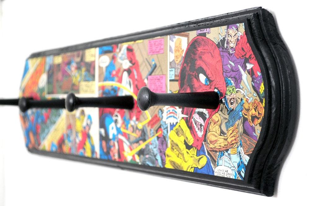 Captain America Coat Rack Superhero Home Decor Comic Book