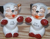 Vintage Japanese Bonzo the Dog Salt and Pepper Shakers, Retro