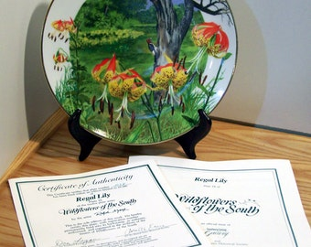 Royal Windsor Wildflowers of the South Regal Lily Limited Edition Collector Plate