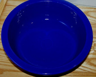 Vintage Original Colbalt  Fiesta Vegetable or Serving Bowl 9 1/2 Inches