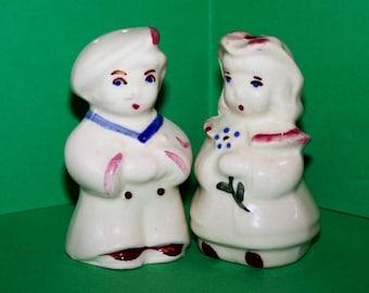 Vintage Shawnee Salt and Pepper Shakers: Bo Peep and Sailor Boy