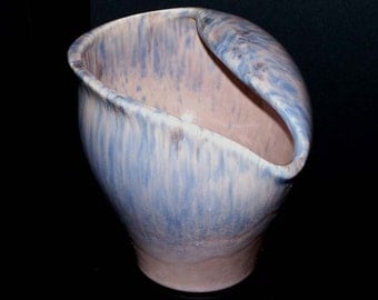 Royal Haeger USA R1944 Mottled Marbled Mauve Agate Glazed Vase