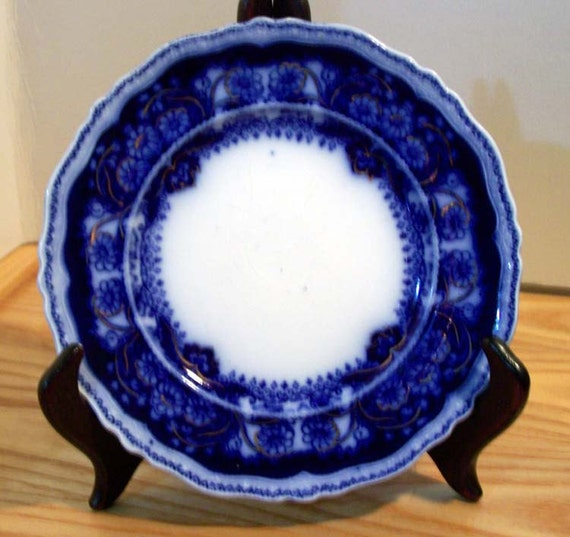 Collectible Pekin Flow Blue Plate by Johnson Brothers of ENgland