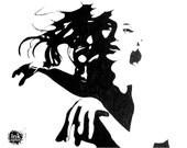 Lady Gaga - Original Ink Art - 9x11 - NOT A PRINT