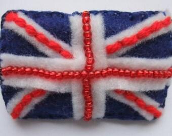 Union Jack flag - felt brooch for Jubilee or Olympics