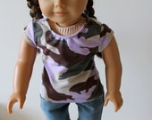Shorts, Tee, and Tote Bag for American Girl or Other 18 Inch Dolls