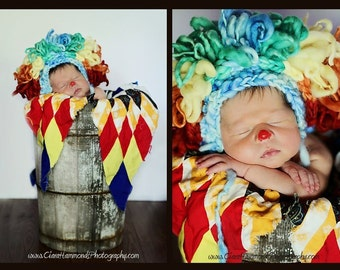 Clown Bonnet Crochet Pattern PDF 67