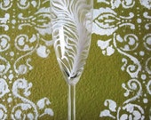 Ostrich Feather Champagne Glass - Glamorous - perfect for weddings bridesmaids special occasions