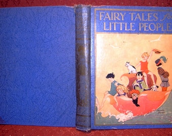 Book Fairy Tales for Little People First Edition Illustrated by Charlotte Becker 1927 SALE