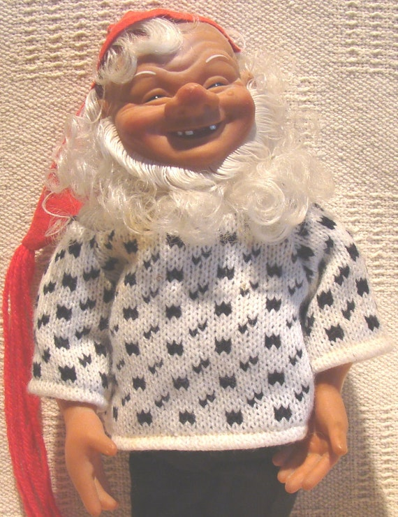 Doll Gnome Troll Pixie Elf Arne Hasle NISSE Norwegian Christmas Santa Figure
