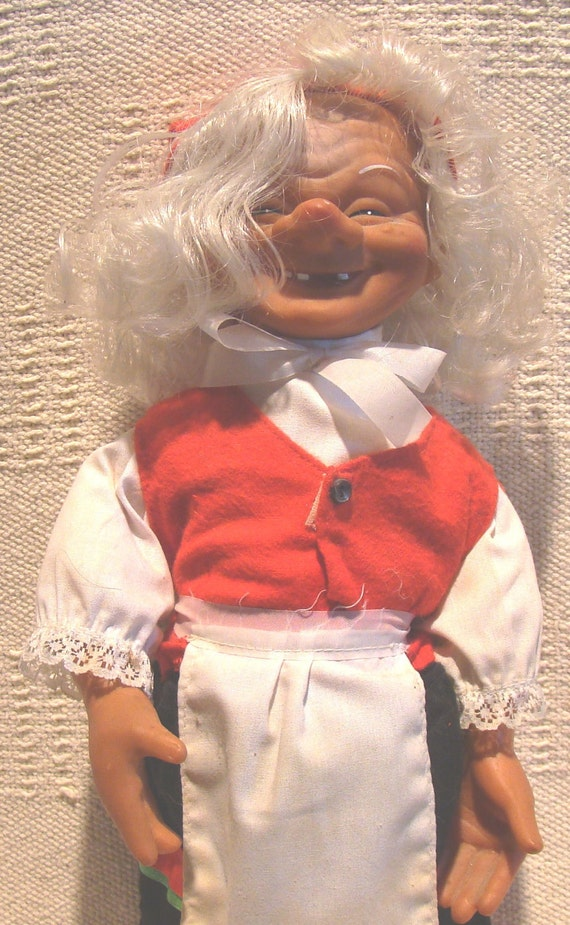 Doll Gnome Troll Pixie Elf Arne Hasle NISSE Norwegian Christmas Mrs Santa Figure