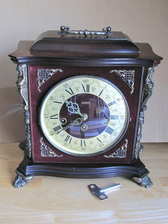 Mantle Clock - NOT WORKING - For Parts Only - Steampunk Shawodbox - Ornate Pieces