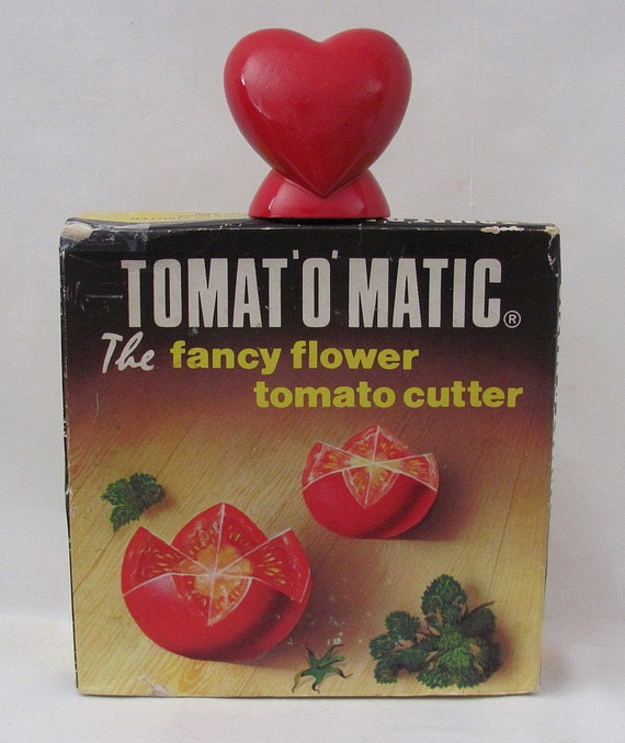 Vintage Tomat'O'Matic Fancy Flower Tomato Cutter - Original Box - Only for those who can't cut it