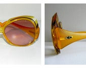 oversized christian dior sunglasses with rx - honey yellow - style 2044 - 80s