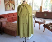 vintage 60s cape - tuxster pintuck cape with arrow detail