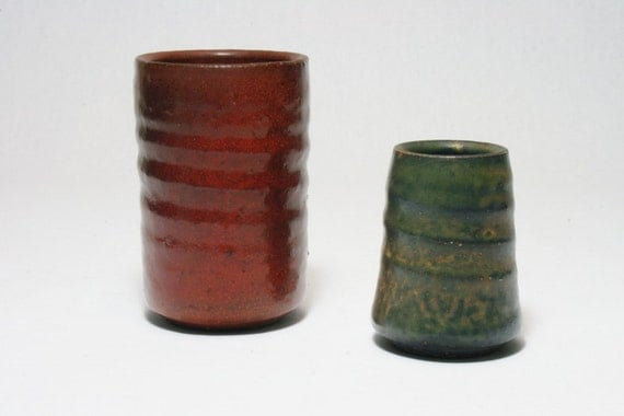 Jaan Mobach Dutch Studio Pottery Mini Vases