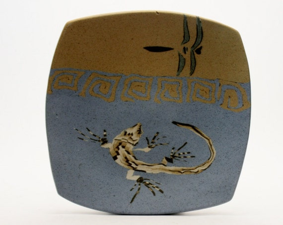 Mike Haley and Susy Siegele BUZZARD MOUNTAIN Neriage Clay Plate Studio Pottery