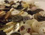 Vintage earth tone buttons Destash mixed materials lot of 280