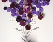 Vintage Buttons, A lovely bunch of violets-50 buttons- also lavenders,purples and plums
