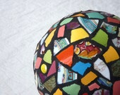 Mosaic Ball multicolored, picassiette garden globe
