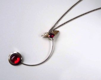 Ruby Eye Fishbird Necklace