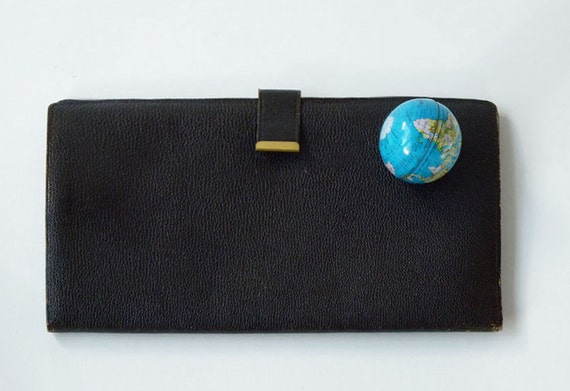 Leather Travel Wallet, document organizer, Made in West Germany