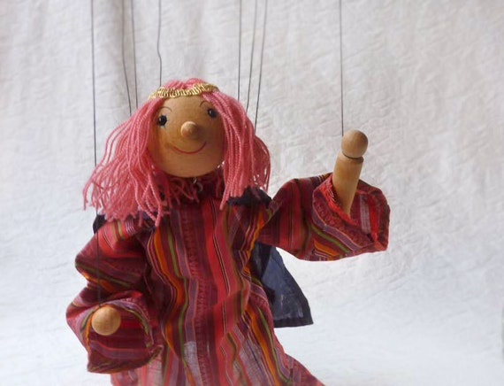 Wooden marionette, Made In Germany, Hippie Girl